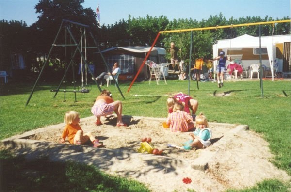 The sandbox for the little ones